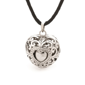 Harmony Ball - SILVER HEARTS LACE - Bella Donna Sterling Silver