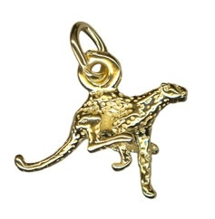 Charm - CHEETAH - Sterling Silver or 9ct Gold