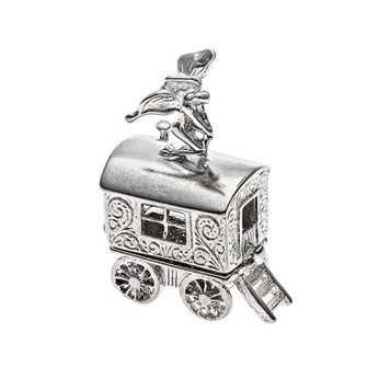 Box - WAGON FAIRY KEEPER - Sterling Silver