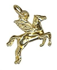 Charm - PEGASUS FLYING HORSE - Sterling Silver or 9ct Gold