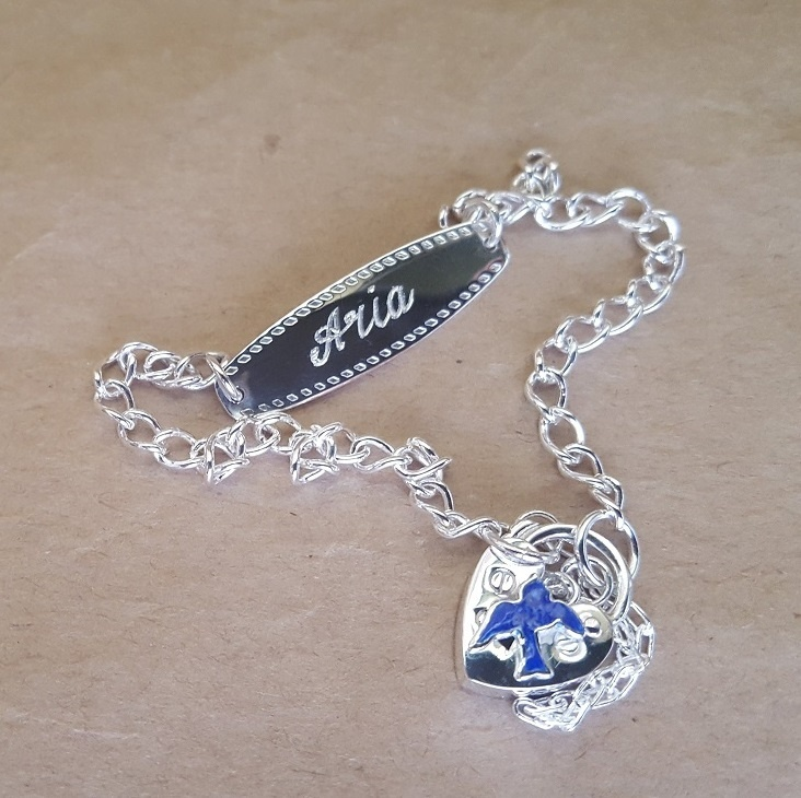 Bracelet Bluebird Id For Child In Sterling Silver Or 9ct