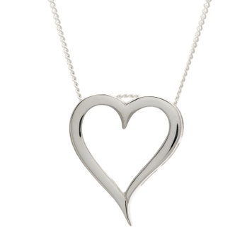 Pendant - SLIDER HEART - Sterling Silver or 9ct Gold