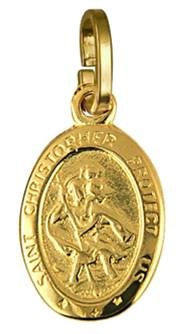 Charm - ST CHRISTOPHER - Sterling Silver or 9ct Gold