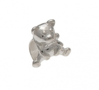 Slider Charm - TEDDY BEAR - Sterling Silver or 9ct Gold