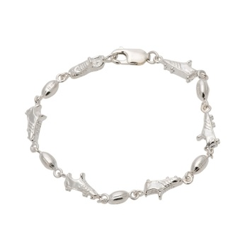 Charmer Bracelet - FOOTY FAN - Sterling Silver