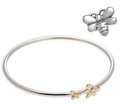Bangle - BEE-LOVED - Solid Sterling Silver or 9ct Gold