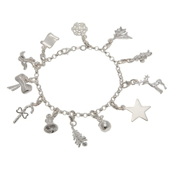Bracelet - CHRISTMAS WISH CHARMS - Sterling Silver