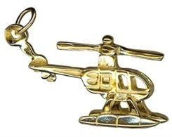 Charm - MOVING HELICOPTER - Sterling Silver or 9ct Gold