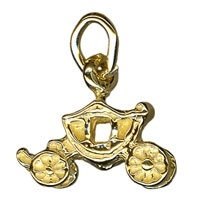 Charm - ROYAL PRINCESS COACH - Sterling Silver or 9ct Gold