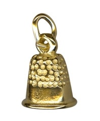 Charm - THIMBLE - Sterling Silver or 9ct Gold