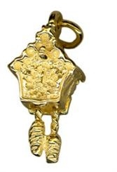 Charm - CUCKOO CLOCK - Sterling Silver or 9ct Gold