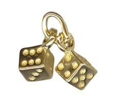 Charm - DICE - Sterling Silver or 9ct Gold