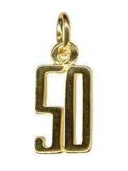 Charm - BLOCK 50 - Sterling Silver or 9ct Gold
