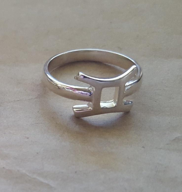 Zodiac Star Sign Rings Custom Made In Sterling Silver Or