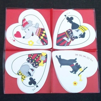 Heart Shaped Playing Cards- POOCHES - (K9 of Hearts Luxury Playing Cards)