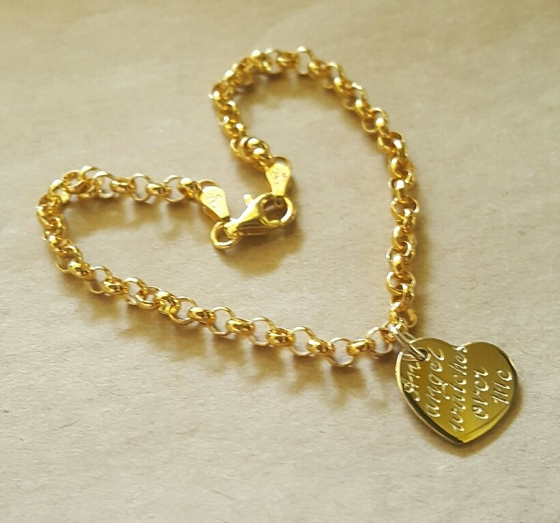 belcher bracelets in sterling silver or solid gold for children and women