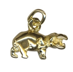 Charm - HIPPO - Sterling Silver or 9ct Gold