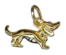 Charm - DACHSHUND - Sterling Silver or 9ct Gold