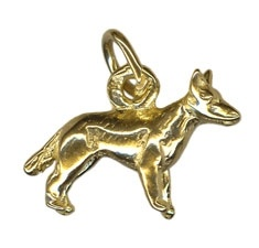 Charm - BLUE HEELER DOG - Sterling Silver or 9ct Gold