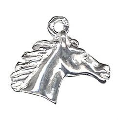 Charm - HORSE HEAD - Sterling Silver or 9ct Gold