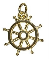Charm - SHIP'S WHEEL - Sterling Silver or 9ct Gold
