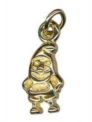Charm - GNOME (SANTA'S ELF?) - Sterling Silver or 9ct Gold