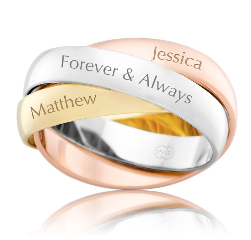 Ring - TOGETHER BANDS - Personalised, Sterling Silver or 9ct Gold