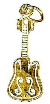 Charm - LARGE GUITAR - Sterling Silver or 9ct Gold