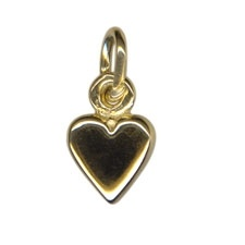 Charm - PLAIN LOVE HEARTS - Sterling Silver or 9ct Gold