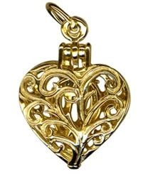 Charm - RING IN HEART - Sterling Silver or 9ct Gold