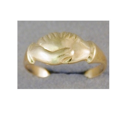 Ring - CLASPED HANDS (Mani in Fede) - Sterling Silver or 9ct Gold