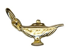 Charm - ALADDIN'S LAMP - Sterling Silver or 9ct Gold