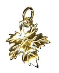 Charm - MAPLE LEAF - Sterling Silver or 9ct Gold