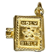 Charm - OPENING BIBLE - Sterling Silver or 9ct Gold