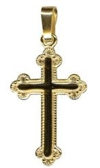 Pendant - MEDIUM FANCY CROSS - Sterling Silver or 9ct Gold