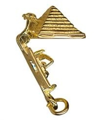 Charm - OPENING PYRAMID -  Sterling Silver or 9ct Gold
