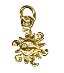 Charm - SUN - Sterling Silver or 9ct Gold
