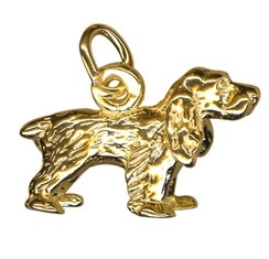 Charm - COCKER SPANIEL DOG - Sterling Silver or 9ct Gold