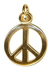 Charm - PEACE SYMBOL - Sterling Silver or 9ct Gold