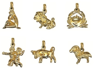 Pendant or Charm - LARGE ZODIAC 3D - Sterling Silver or 9ct Gold