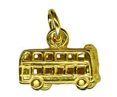 Charm - DOUBLE DECKER BUS - Sterling Silver or 9ct Gold