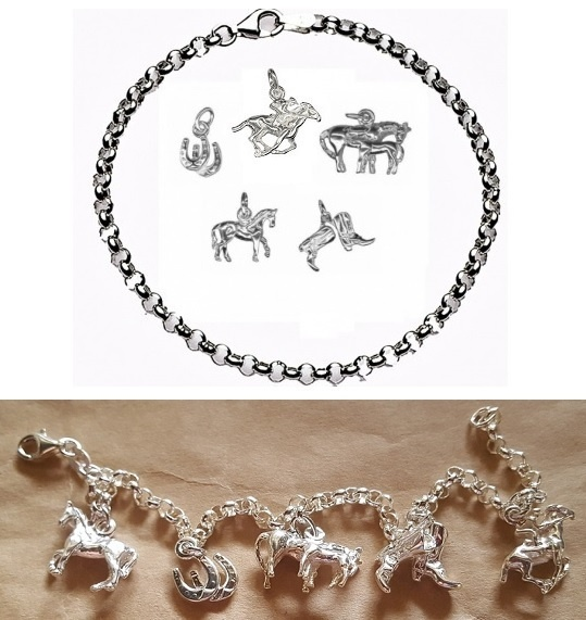 CHARMED BY HORSES Bracelet - Sterling Silver
