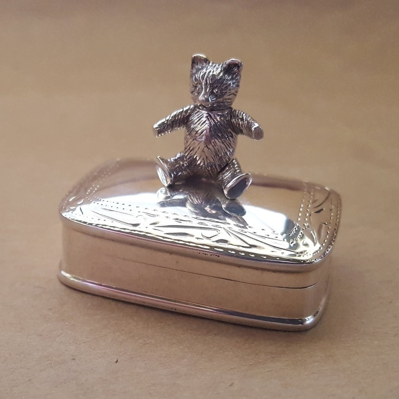 Box - WIGGLE BEAR - Sterling Silver