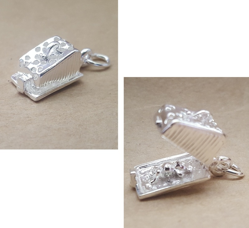 Charm - CHEESE & MOUSE - Sterling Silver or 9ct Gold