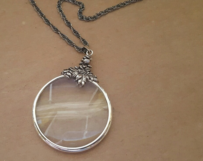 Magnifying glass pendant sterling silver ari d norman on chain share elegant and practical a stylish magnifying glass pendant set in sterling silver aloadofball Image collections