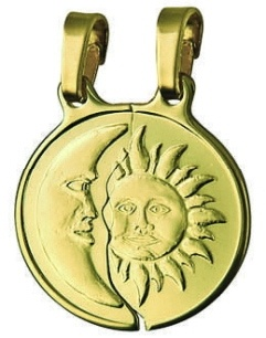 Break Apart - SUN AND MOON - Sterling Silver or 9ct Gold