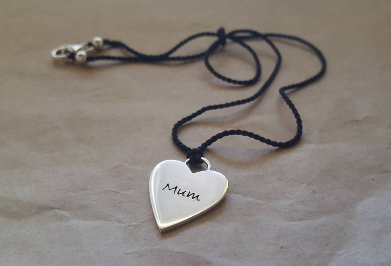 Poetic Pieces Necklace - MUM LOVE HEART P13S - Sterling Silver
