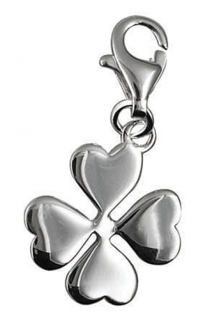 Clip-On Charm - LITTLE 4 LEAF CLOVER - Sterling Silver