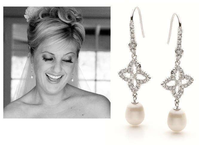 Earrings - PEARL & PAVE - Sterling Silver