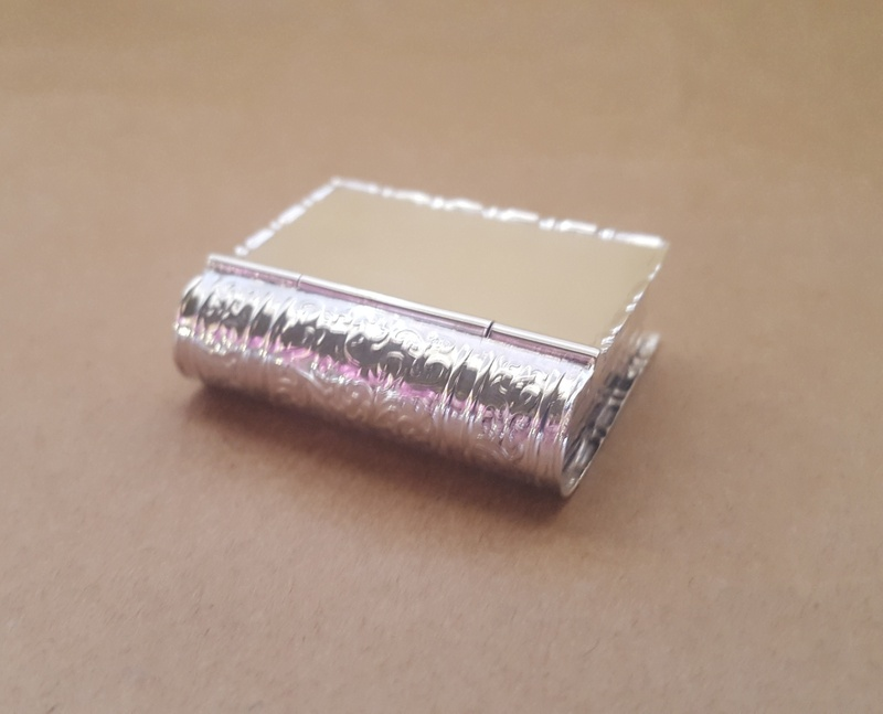 Pillbox - OPENING BOOK - Sterling Silver